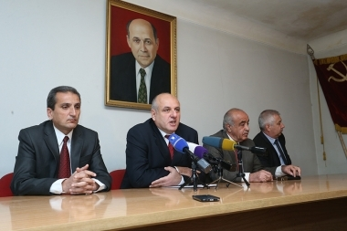 Members of the Armenian Communist Party gave a press conference - Photolure News Agency