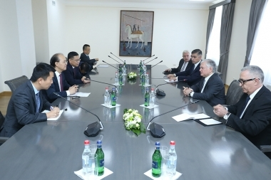 RA Minister of Foreign Affairs Edward Nalbandian received the Assistant Minister of Foreign Affairsof the People's Republic of China Li Huilai - Photolure News Agency