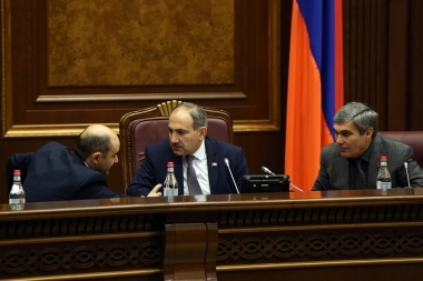 'Elq' faction holds a parliamentary briefings on the 'Launch of the process of cessation of the Eurasian Economic Union Treaty' at the RA National Assembly - Photolure News Agency