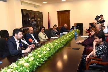 A round table discussion on the topic of 'The support of the Armenian Diaspora' took place at the RA Ministry of Diaspora - Photolure News Agency