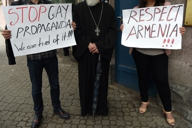 'For the Law' civil movement hold a protest action in front of the U.K. Embassy in Armenia - Photolure News Agency