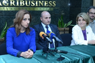 A press conference ahead of 'Areni' wine festival took place at Yerevan Wine Academy - Photolure News Agency
