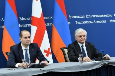 RA Minister of Foreign Affairs Edward Nalbandyan gave a joint press conference Foreign Minister of Georgia Mikheil Janelidze - Photolure News Agency