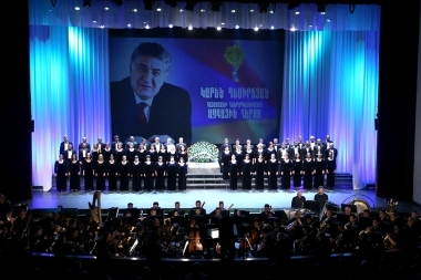 An evening dedicated to the 85th anniversary of Karen Demirchyan took place at the National Academic Theatre of Opera and Ballet named after Al. Spendiaryan - Photolure News Agency