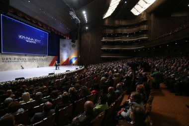 RA Ministry of Education and Science and RA Ministry of Defense organized a conference under the title of 'Nation-Army-2017' at K. Demirchyan Sports and Concerts Complex - Photolure News Agency