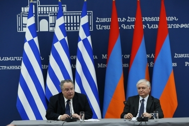 RA Minister of Foreign Affairs Edward Nalbandian and Foreign Minister of Greece Nikos Kotzias gave a joint press conference - Photolure News Agency