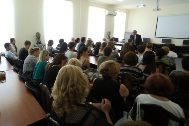 RA Minister of Education and Science Levon Mkrtchyan met educators from the Armenian Diaspora - Photolure News Agency