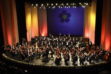 Concert of the 'All-Armenian Orchestra' dedicated to the 102nd anniversary of the Armenian Genocide took place at the National Academic Theatre of Opera and Ballet Named after Al. Spendiaryan - Photolure News Agency