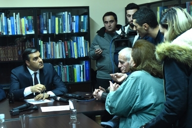 RA Human Rights Defender Arman Tatoyan met the protesters who support 'Sasna Tsrer' members - Photolure News Agency
