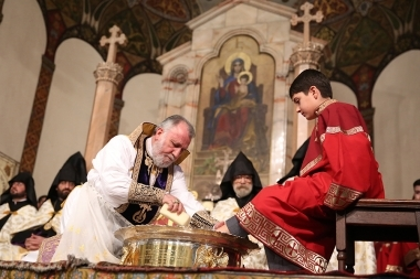 The rite of Washing of the Feet on Holy Thursday took place at the Mother See of Holy Etchmiadzin - Photolure News Agency