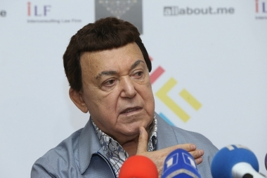Russian famous singer Iosif Kobzon gives a press conference at Aram Khachatryan Concert Hall - Photolure News Agency