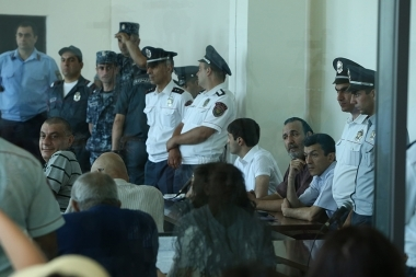 Hearings of 'Sasna Tsrer' group's case took place at the Court of General Jurisdiction of Avan and Nor Nork Administrative Districts - Photolure News Agency