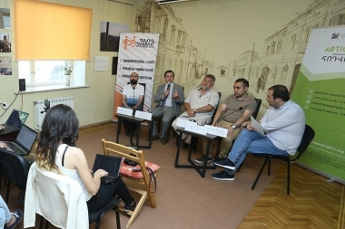 A discussion on the topic of the 'One year after the crisis of July: The Rule of Violence and the boundaries of violence' took place in 'Article 3' press club - Photolure News Agency