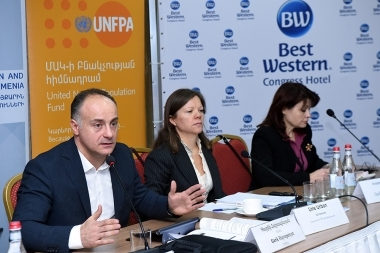 Presentation of a research result on the topic of the 'Perceptions, attitudes and practices of the main institutional actors and citizens of Armenia in terms of domestic violence' took place at Congress Hotel - Photolure News Agency