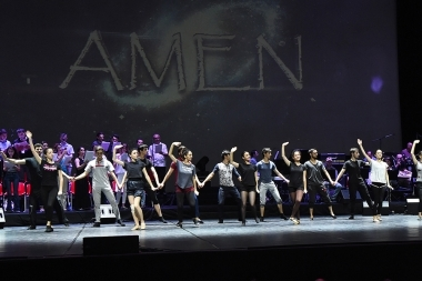 'AMEN Project' presents the 'Amen' music drama show at Karen Demirchyan Sports and Concerts Complex - Photolure News Agency