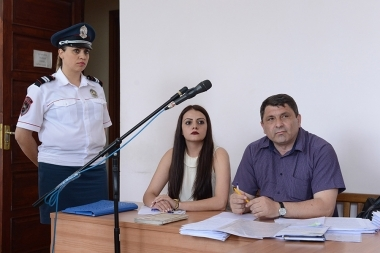 Hearings of 'Analitik.am' web site editor-in-chief Ani Hovhannisyan's case took place at the Court of General Jurisdiction of Kentron and Nork-Marash Administrative District - Photolure News Agency